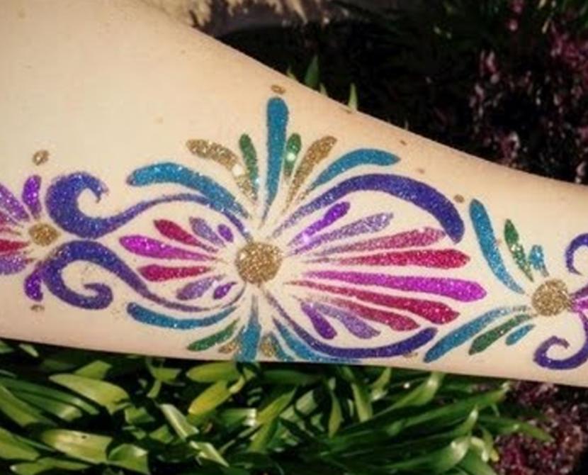 Tatuaże brokatowe dla dzieci